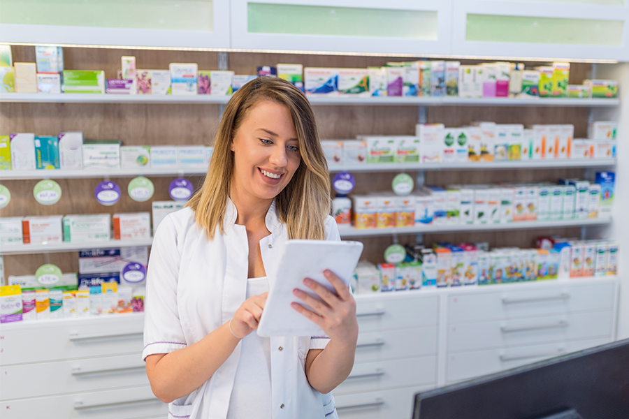 Pharmacist working in a specialty pharmacy