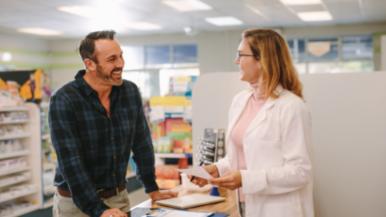 Pharmacist discussing Sublocade with patient