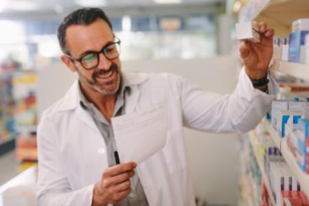 Pharmacist filling a Sublocade prescription